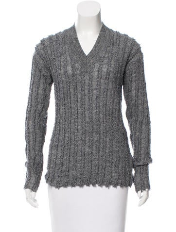 T by Alexander Wang Textured Wool Sweater None