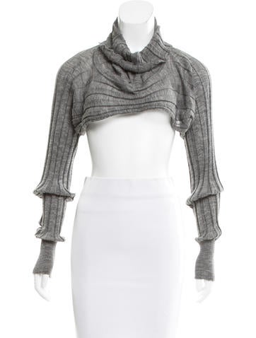 T by Alexander Wang Alpaca & Wool-Blend Cropped Sweater None