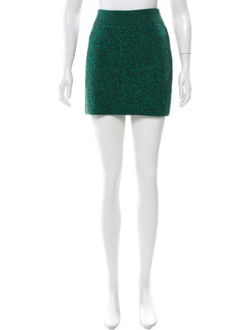 T by Alexander Wang Two-Tone Knit Skirt None