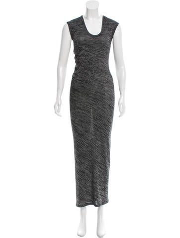 T by Alexander Wang Scoop Neck Maxi Dress None