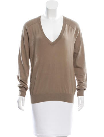T by Alexander Wang Open Knit-Accented V-Neck Top None