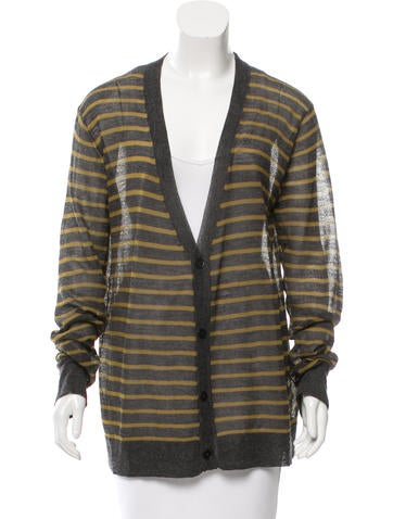 T by Alexander Wang Wool-Blend Striped Cardigan None