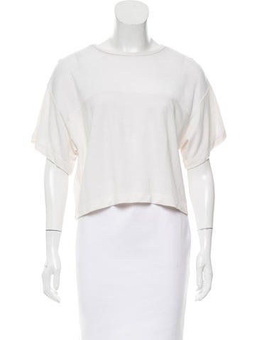 T by Alexander Wang Casual Crop Top None