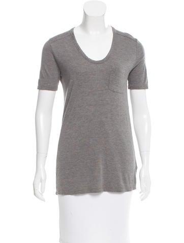 T by Alexander Wang Knit Short Sleeve T-Shirt None