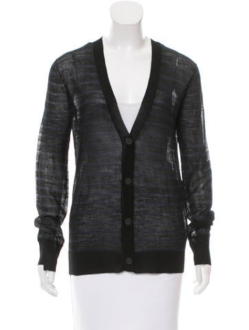 T by Alexander Wang Striped Wool Cardigan None