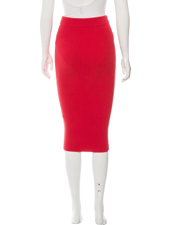 t by wang rib knit midi skirt clothing