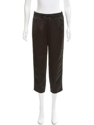 T by Alexander Wang Cropped Straight-Leg Pants None