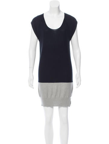 T by Alexander Wang Colorblock Mini Dress None