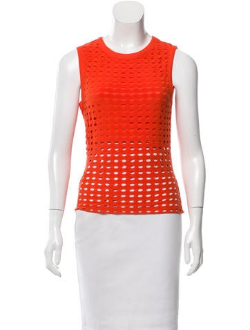T by Alexander Wang Cutout Rib Knit Top None