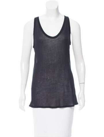 T by Alexander Wang Semi-Sheer Sleeveless Top None