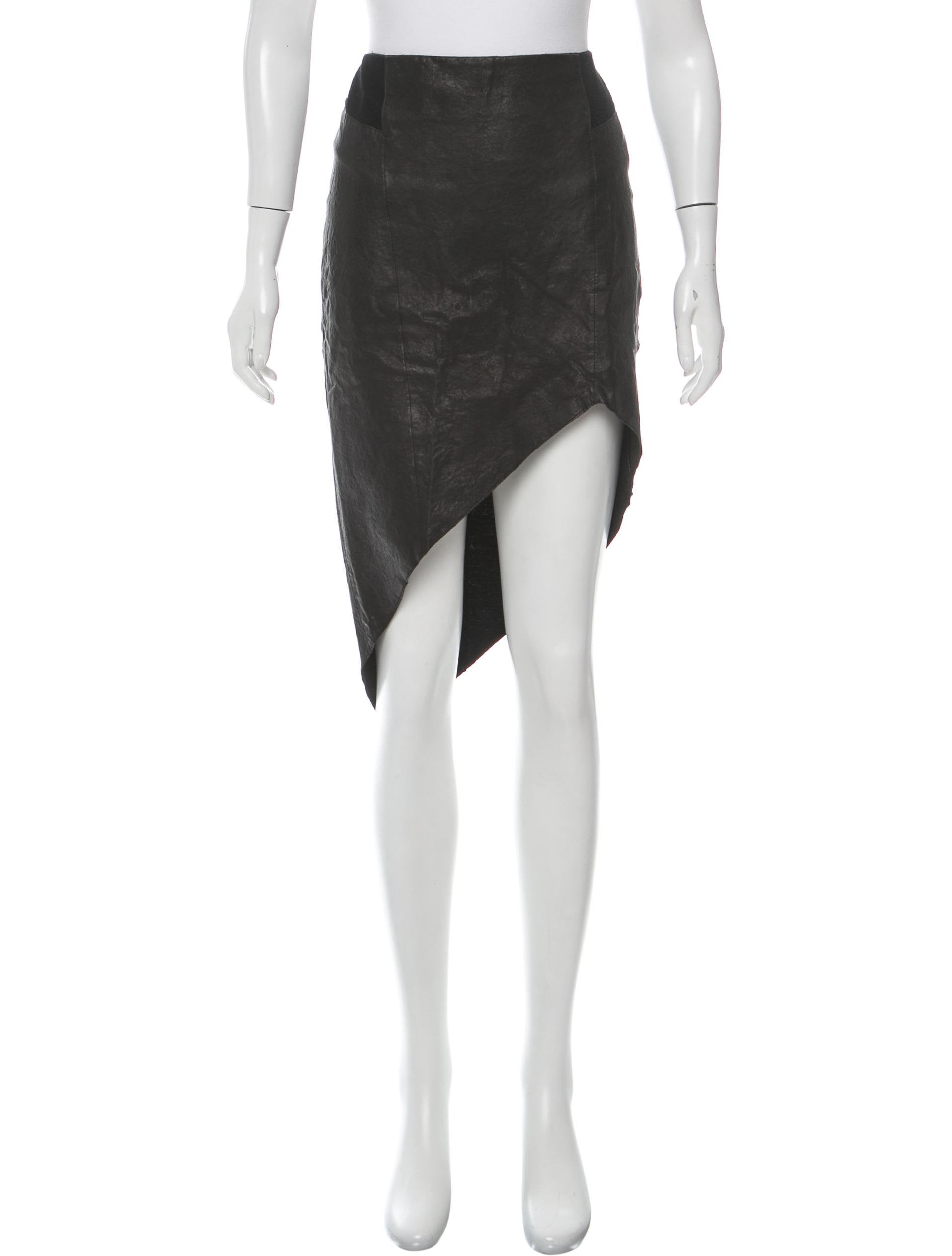 t by wang asymmetrical leather skirt clothing