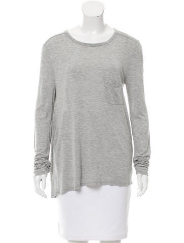 T by Alexander Wang Long Sleeve Rib Knit Top None