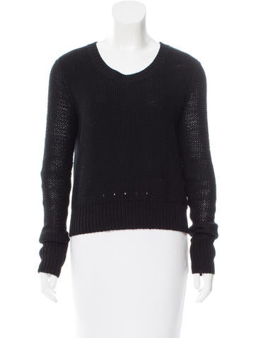 T by Alexander Wang Rib Knit Crew Neck Sweater None