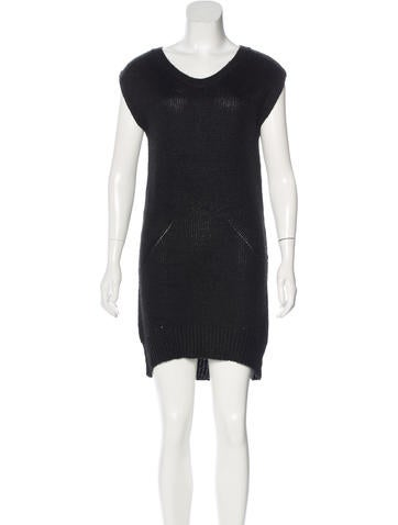 T by Alexander Wang Knit Sweater Dress None