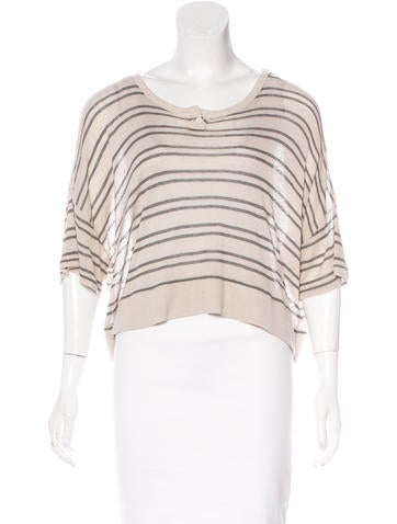 T by Alexander Wang Striped Crop Top None