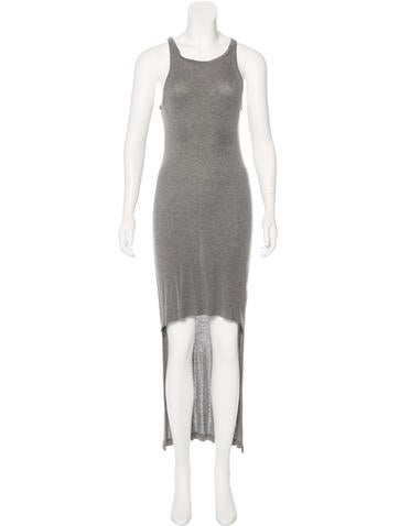 T by Alexander Wang Rib Knit High-Low Dress None