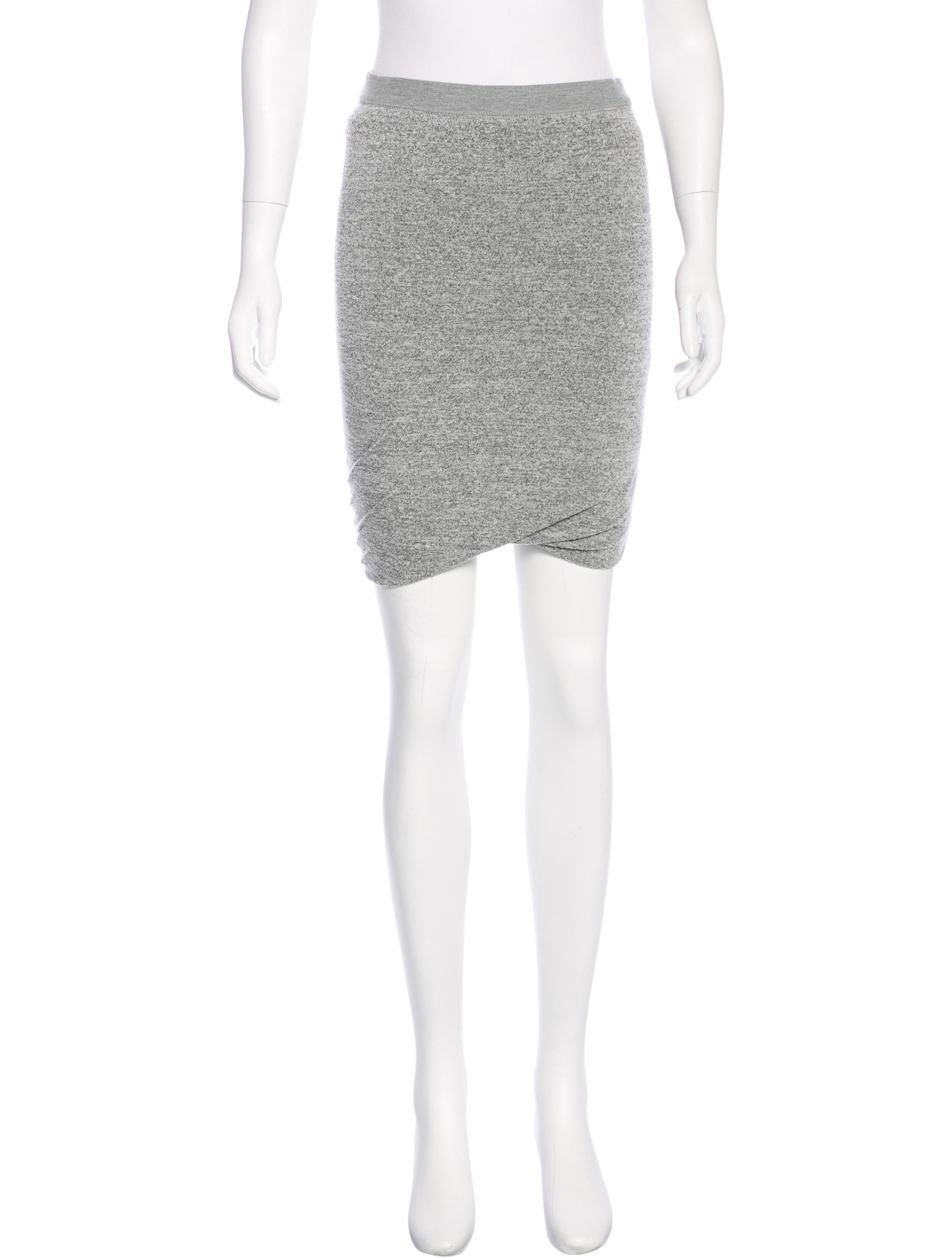 t by wang jersey knee length skirt clothing