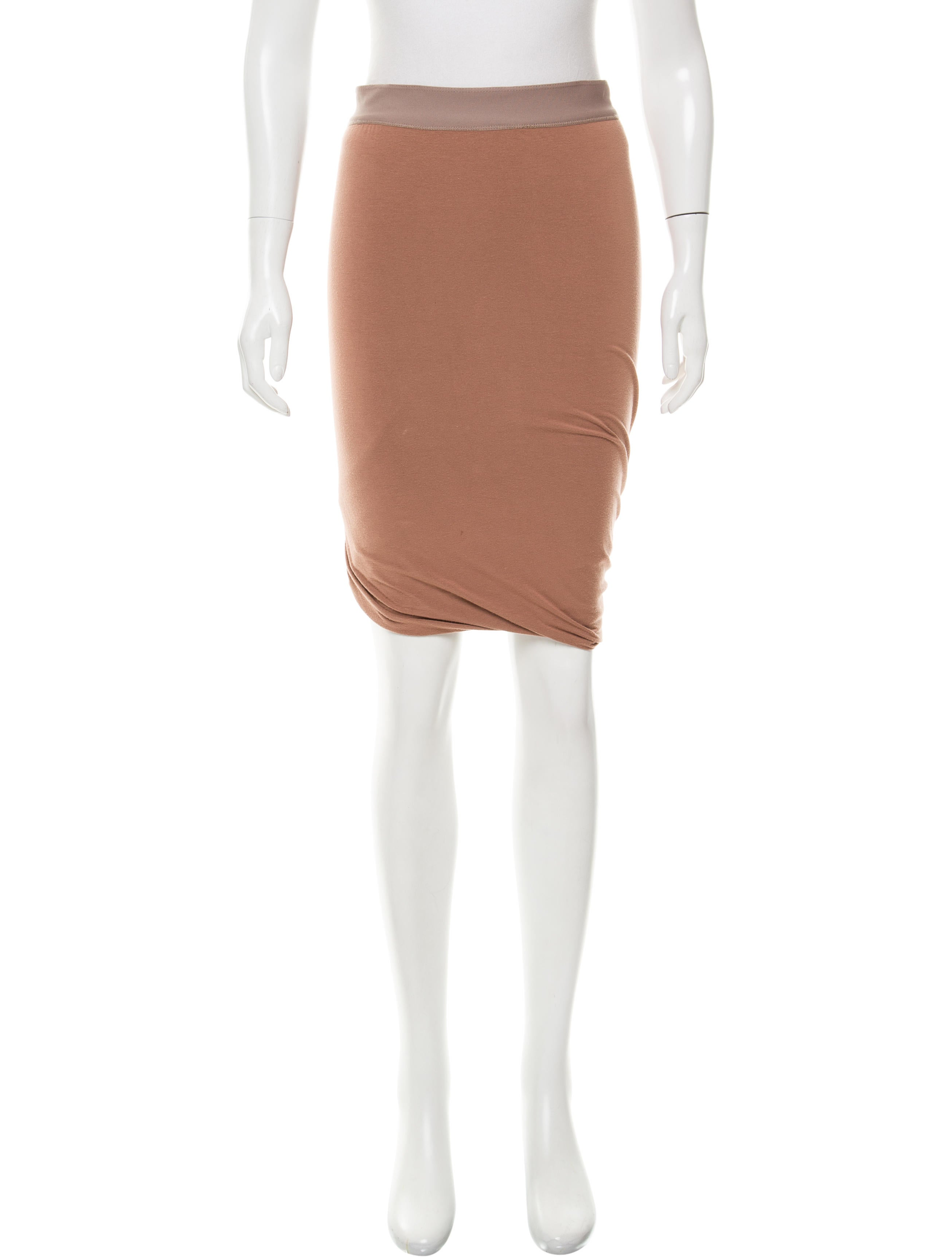 t by wang bodycon knee length skirt clothing