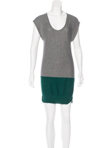 T by Alexander Wang Colorblock Sweater Dress None