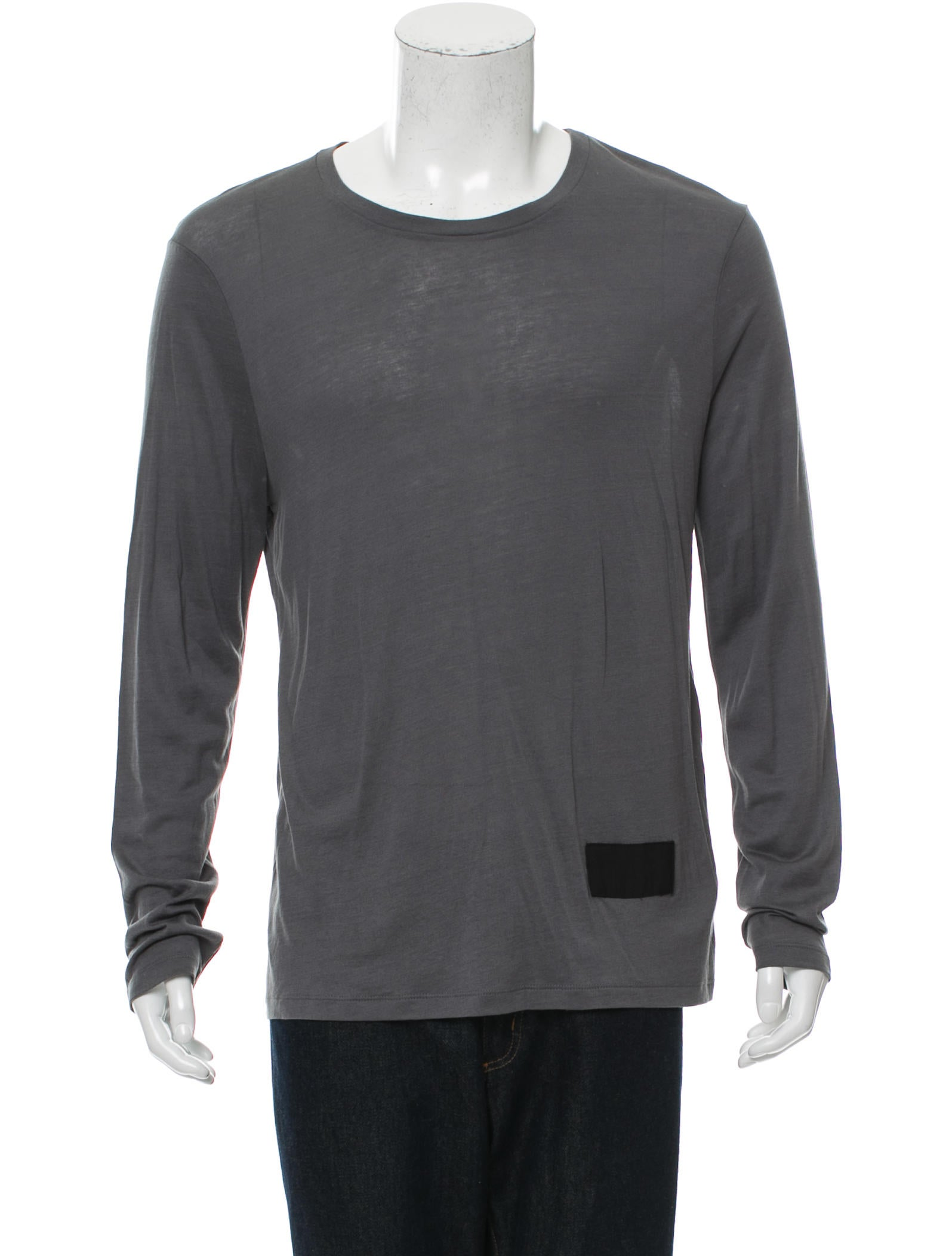 T by alexander wang scoop neck long sleeve t shirt for Scoop neck long sleeve shirt