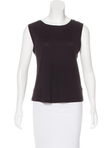 T by Alexander Wang Sleeveless Crew Neck Top None