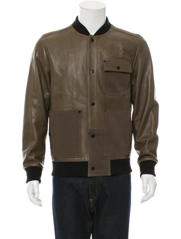 T by Alexander Wang Distressed Leather Jacket None