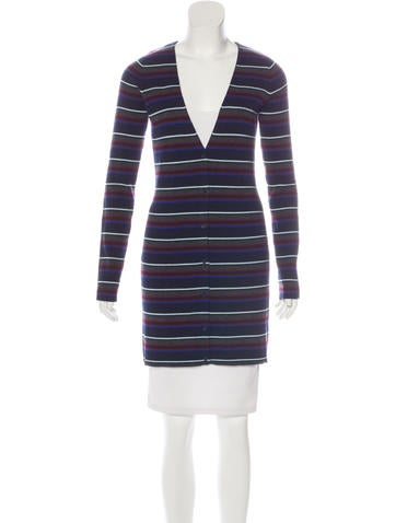 T by Alexander Wang Wool Striped Cardigan None