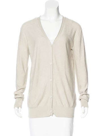 T by Alexander Wang V-Neck Long Sleeve Cardigan card None