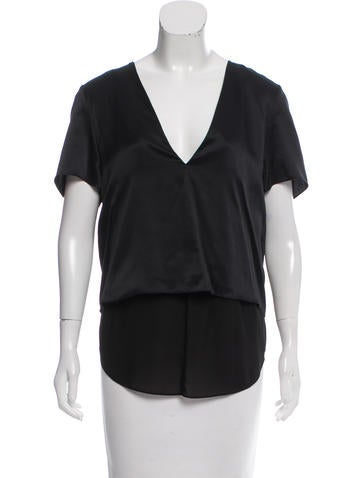 T by Alexander Wang Layered Silk Top w/ Tags None