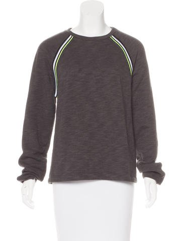 T by Alexander Wang Contrast-Trimmed Raglan Sleeve Sweatshirt None