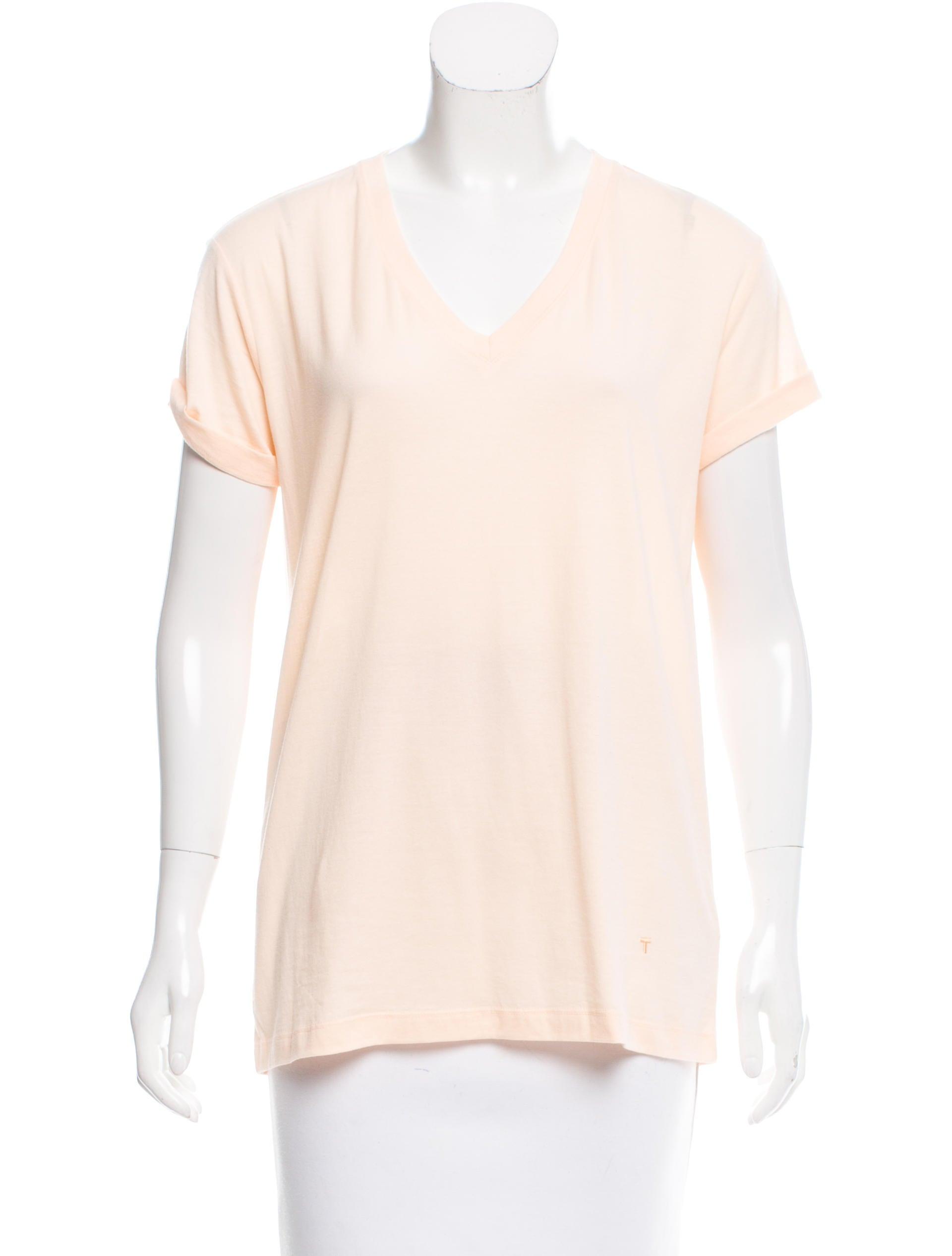 T by alexander wang casual v neck t shirt clothing for Alexander wang t shirt women