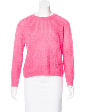 T by Alexander Wang Long Sleeve Open Knit Sweater None