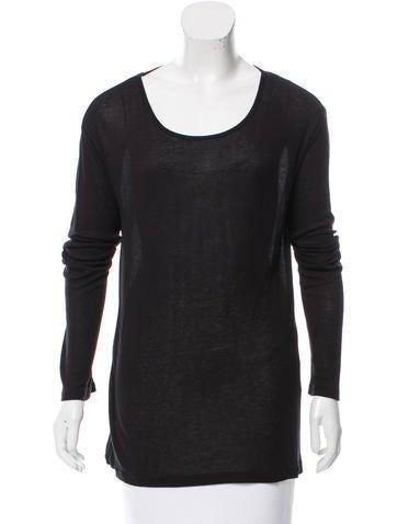 T by Alexander Wang Long Sleeve Rib Knit Top None