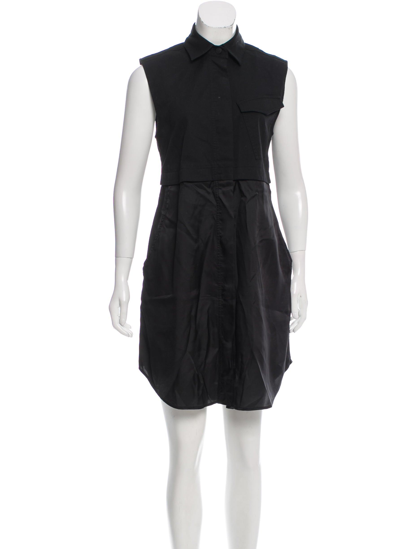 T by alexander wang sleeveless shirt dress clothing for Sleeveless dress shirt womens