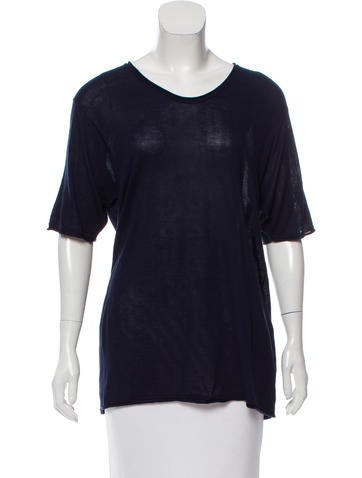 T by Alexander Wang Oversize Rib Knit Top None