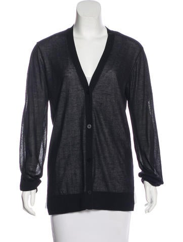 T by Alexander Wang Semi-Sheer Knit Cardigan None