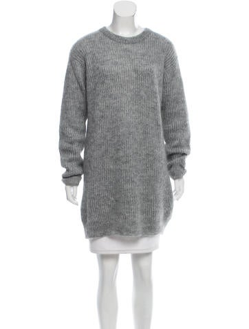 T by Alexander Wang Mohair-Blend Sweater None