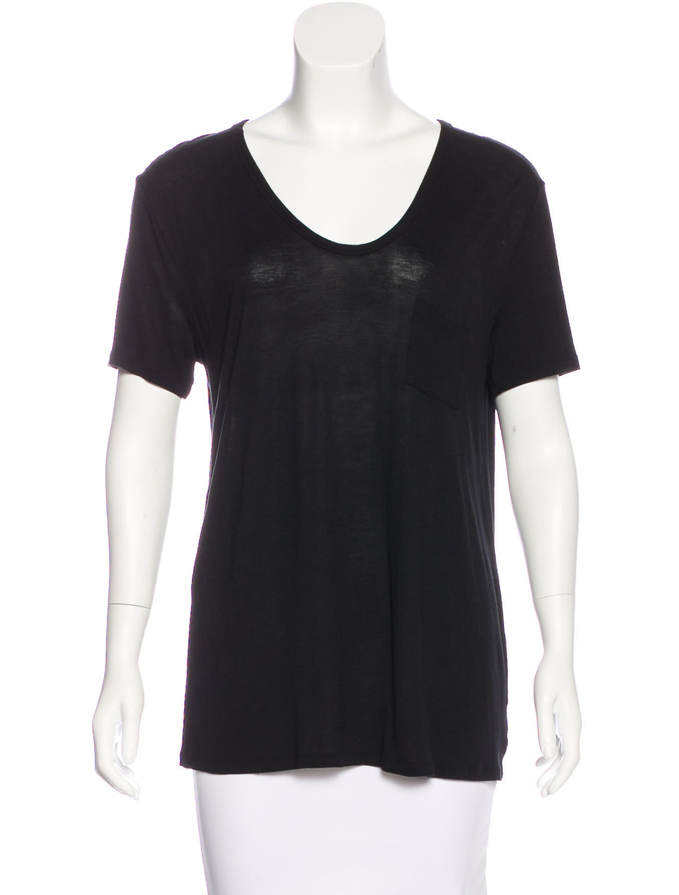 t by alexander wang scoop neck short sleeve t shirt clothing wtb34029 the realreal. Black Bedroom Furniture Sets. Home Design Ideas