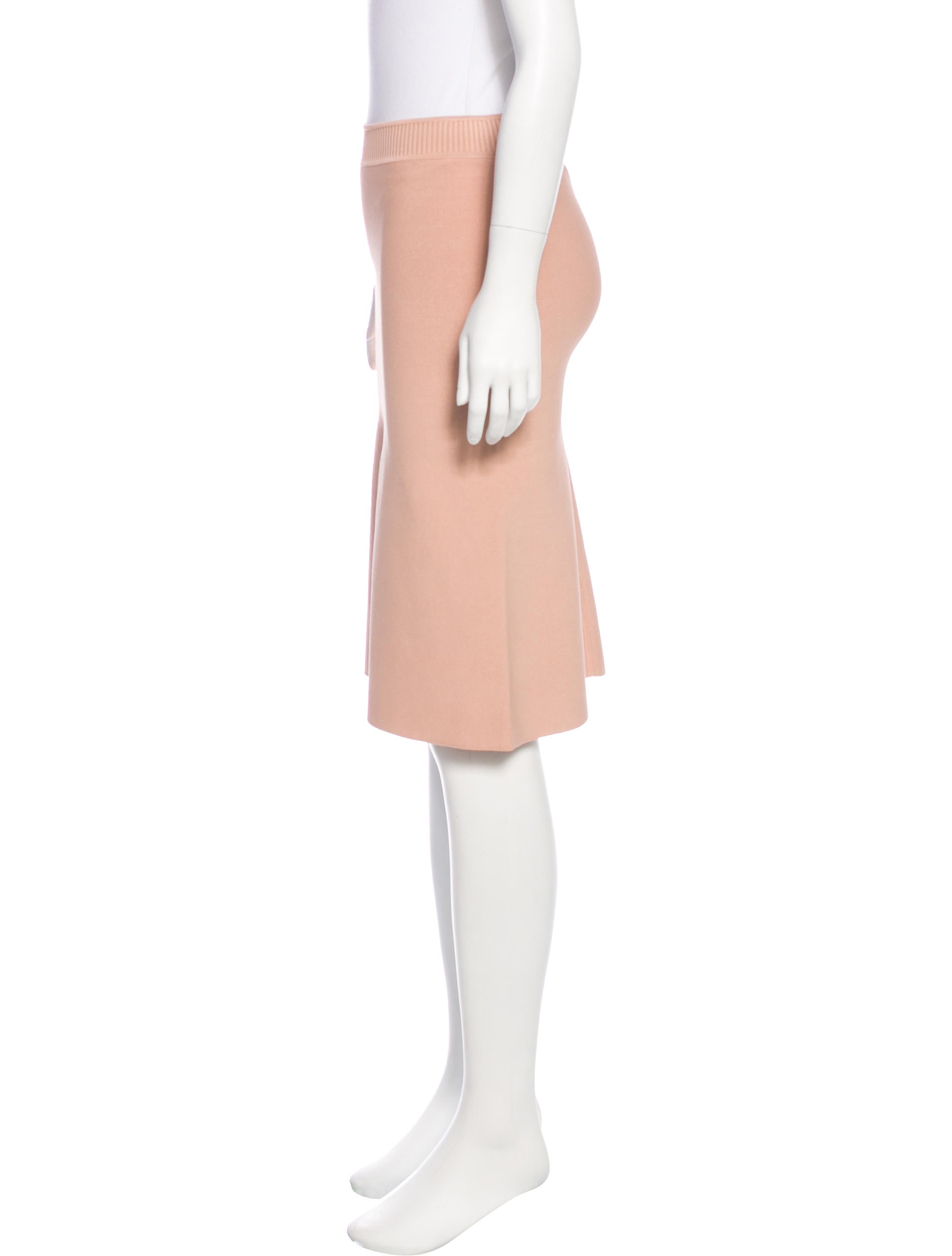 t by wang a line knit skirt clothing