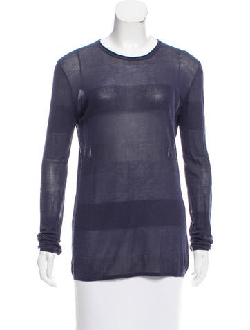T by Alexander Wang Striped Long Sleeve Sweater None