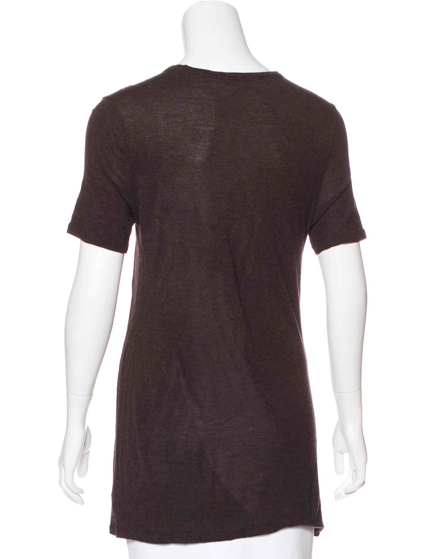 T by alexander wang scoop neck short sleeve t shirt for Alexander wang t shirt women
