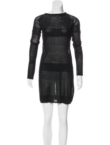 T by Alexander Wang Long Sleeve Knit Dress None