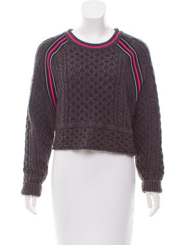T by Alexander Wang Cropped Knit Sweater None