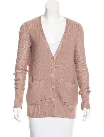 T by Alexander Wang Button-Up Open Knit Cardigan None