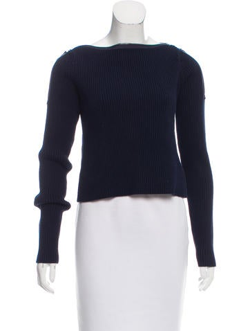 T by Alexander Wang Zipper-Accented Knit Sweater None
