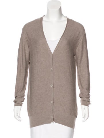 T by Alexander Wang Button-Up Knit Cardigan None