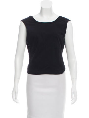 T by Alexander Wang Open Back Crop Top None