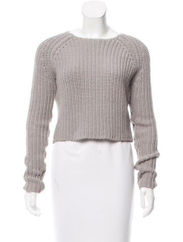 T by Alexander Wang Crew Neck Rib Knit Sweater None