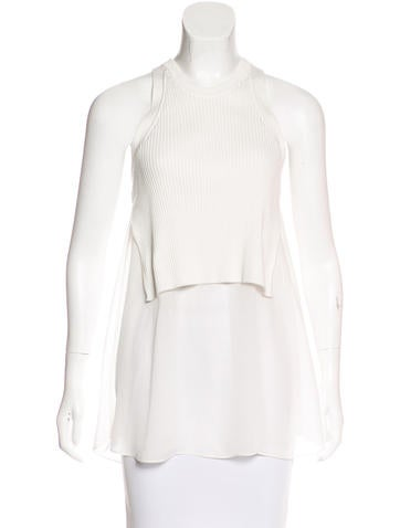 T by Alexander Wang Layered Sleeveless Top None