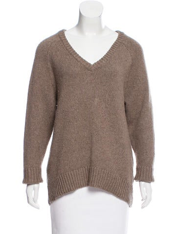 T by Alexander Wang V-Neck Knit Sweater None